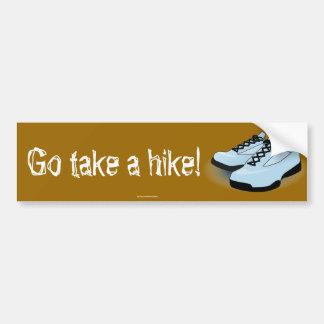 """""""Take a hike!""""  bumper sticker"""