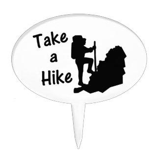 Take A Hike Cake Topper