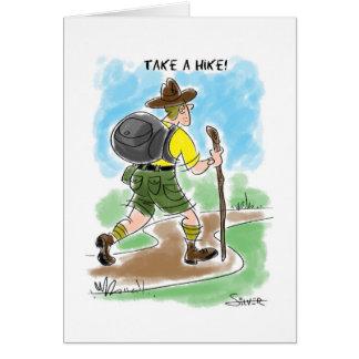 take a hike card
