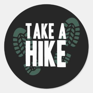 Take A Hike Classic Round Sticker