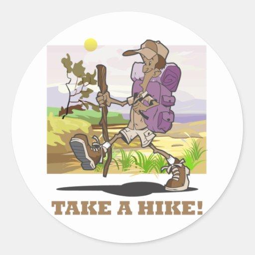 Take a Hike! Classic Round Sticker