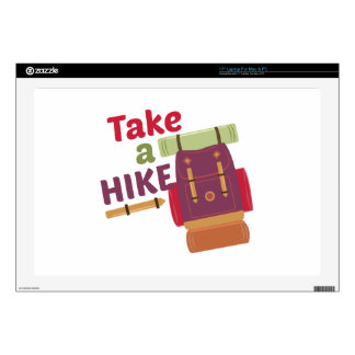 """Take A Hike Decals For 17"""" Laptops"""