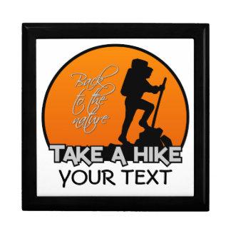 Take a Hike gift box, customize Jewelry Box