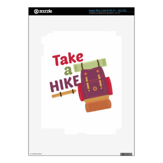 Take A Hike iPad 3 Decal