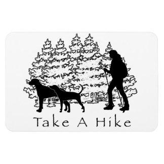 Take a Hike Magnet- Coonhound/Ridgeback Rectangular Photo Magnet