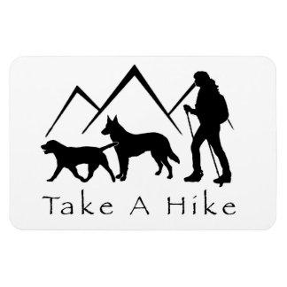 Take a Hike Magnet- Lab/Shepherd Rectangular Photo Magnet