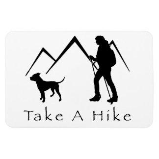 Take a Hike Magnet-Pitbull/Mountain Rectangular Photo Magnet