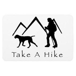 Take a Hike Magnet-Weimaraner Magnet