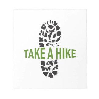Take A Hike Note Pad