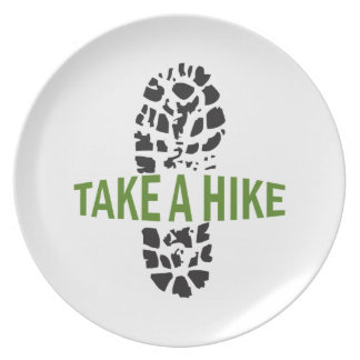 Take A Hike Party Plate