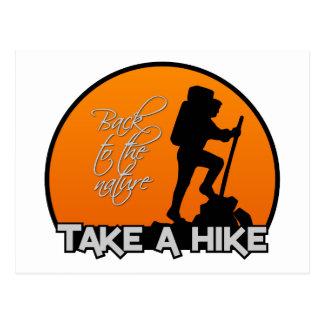 Take a Hike postcard customizable