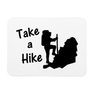 Take A Hike Rectangular Photo Magnet