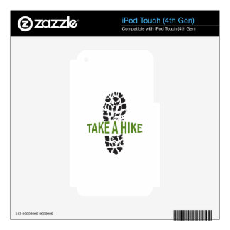 Take A Hike Skins For iPod Touch 4G