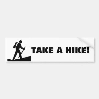 Take A Hike Stick Figure Cartoon Bumper Sticker