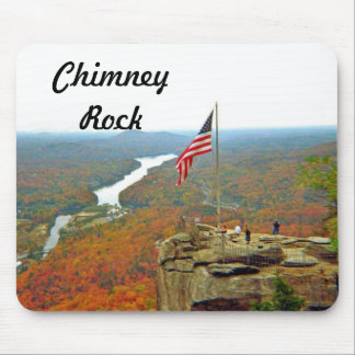 Take A Hike Up To Chimney Rock Mouse Pad