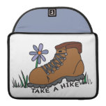 Take A Hike (with flower) MacBook Pro Sleeves