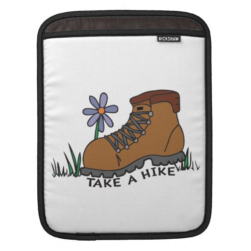 Take A Hike (with flower) Sleeves For iPads