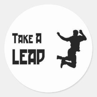 """""""Take a Leap"""" sticker"""