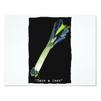 take a leek - dark card