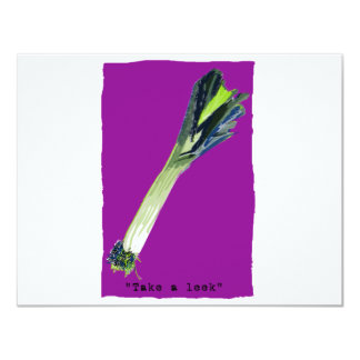 take a leek Fuchsia Card