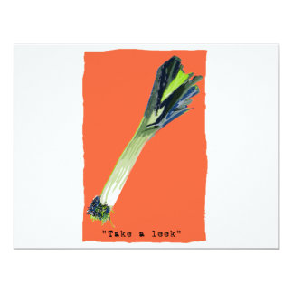 take a leek orange card
