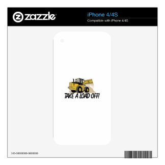 Take A Load Off Skins For iPhone 4S
