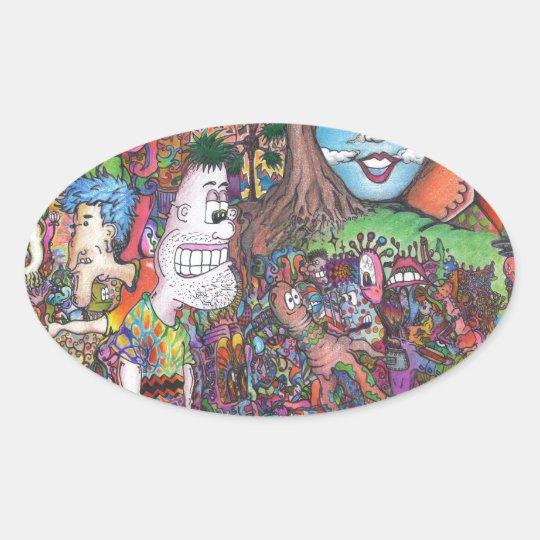 Take A Look Oval Sticker