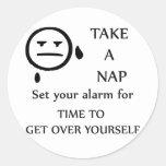 Take A Nap! Classic Round Sticker