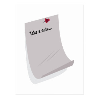 Take A Note... Post Card