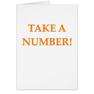 take a number greeting card