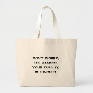 Take a number for personalized customer service (2 large tote bag