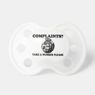 Take A Number Hand Grenade Pacifier