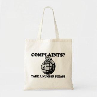 Take A Number Hand Grenade Tote Bag