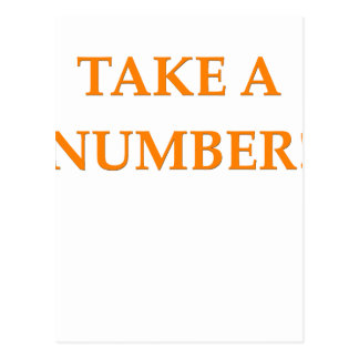 take a number postcard