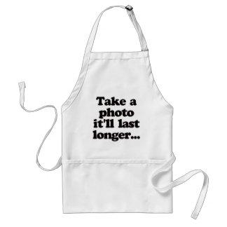 Take a photo, it'll last longer... adult apron