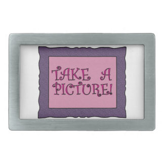 Take A Picture! Rectangular Belt Buckles
