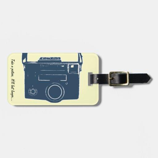 Take a picture Retro Camera Luggage Tag