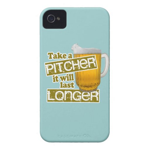 Take a Pitcher it will Last Longer iPhone 4 Covers