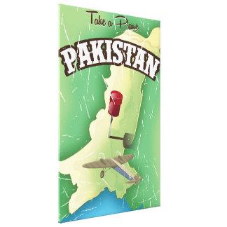Take a plane Pakistan travel poster Canvas Print
