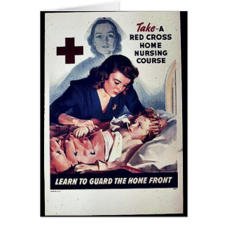 Take-A Red Gross Home Nursing Course Greeting Cards
