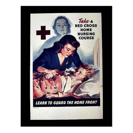 Take-A Red Gross Home Nursing Course Postcard