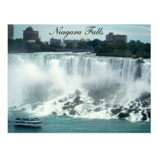 Take A Ride Through Niagara Falls Postcard