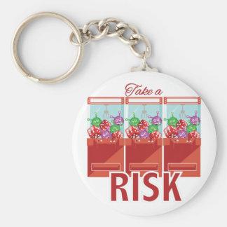 Take A Risk Basic Round Button Keychain
