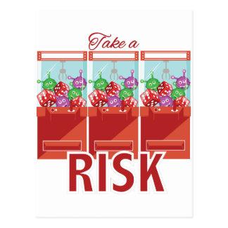 Take A Risk Postcard