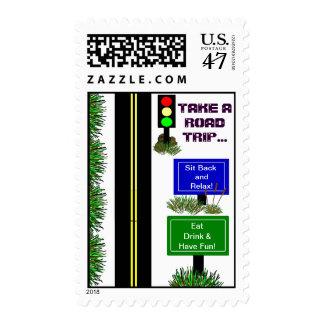 Take A Road Trip... Postage Stamp