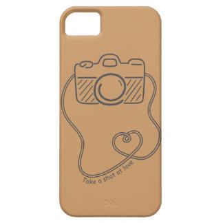 Take a shot at love, Black Camera Doodle iPhone SE/5/5s Case