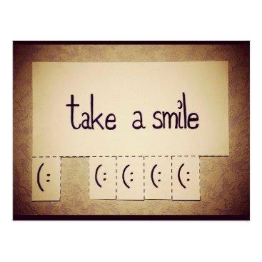 everydaylovers Take a Smile Inspirational Postcard