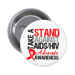 Take a Stand Against AIDS HIV 2 Inch Round Button