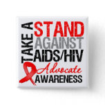 Take a Stand Against AIDS HIV Button
