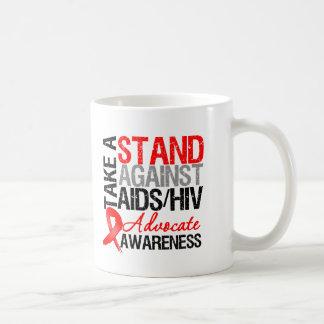 Take a Stand Against AIDS HIV Classic White Coffee Mug